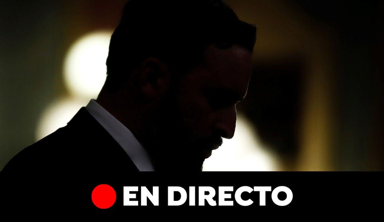 Votación y debate de la moción de censura de Vox contra Pedro Sánchez en el Congreso, en directo