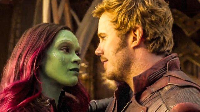 Zoe Saldana y Chris Pratt como Gamora y Star-Lord en 'Guardianes de la Galaxia'