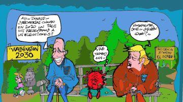Donald Trump y Joe Biden, en la viñeta de Alfredo Boto-Hervás