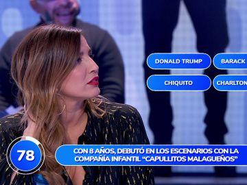 Un curioso dato sobre Donald Trump provoca el error de Lucía Jiménez en 'Una de Cuatro'