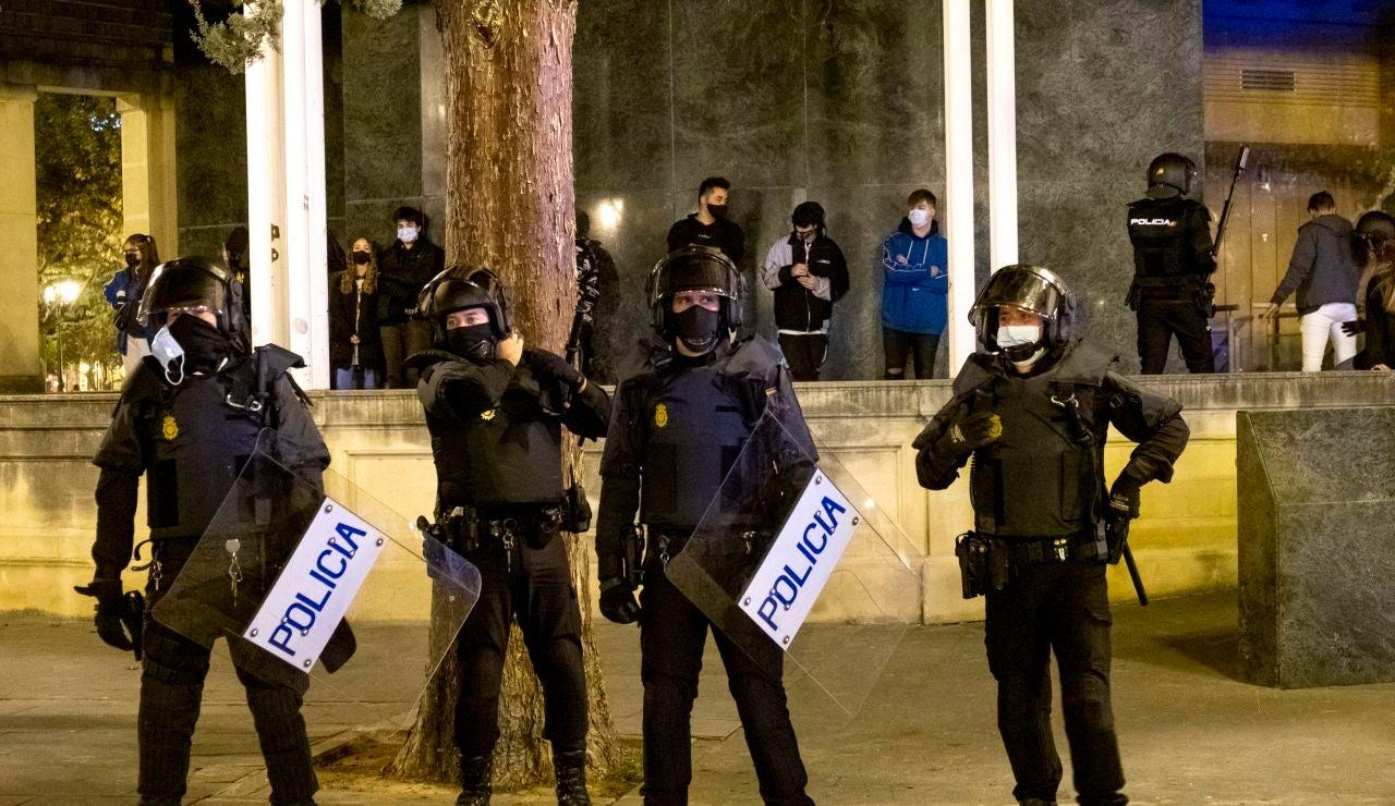 Agentes de la Policía Nacional en Logroño
