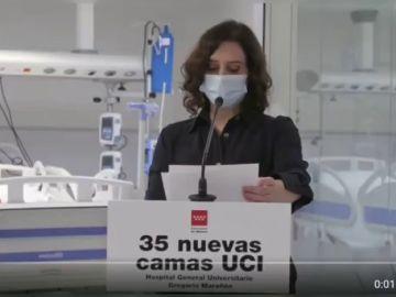 """Isabel Díaz Ayuso asegura el confinamiento domiciliario sería """"la última solución"""" para Madrid"""