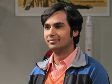 Kunal Nayyar como Raj en 'The Big Bang Theory'