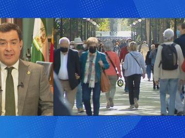 Juanma Moreno, presidente de la Junta de Andalucía en Espejo Público