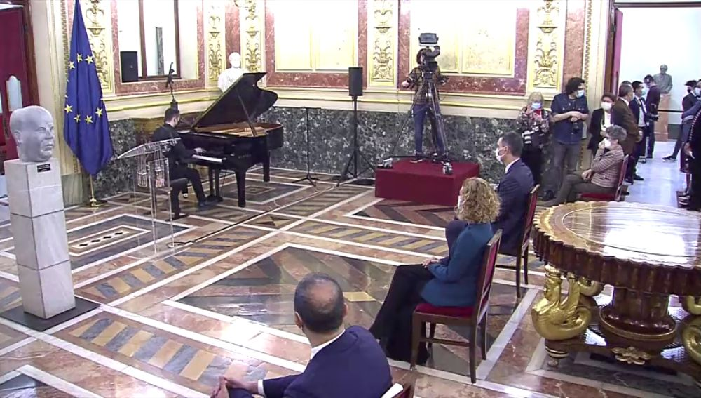 Homenaje en el Congreso al presidente de la Segunda República Manuel Azaña