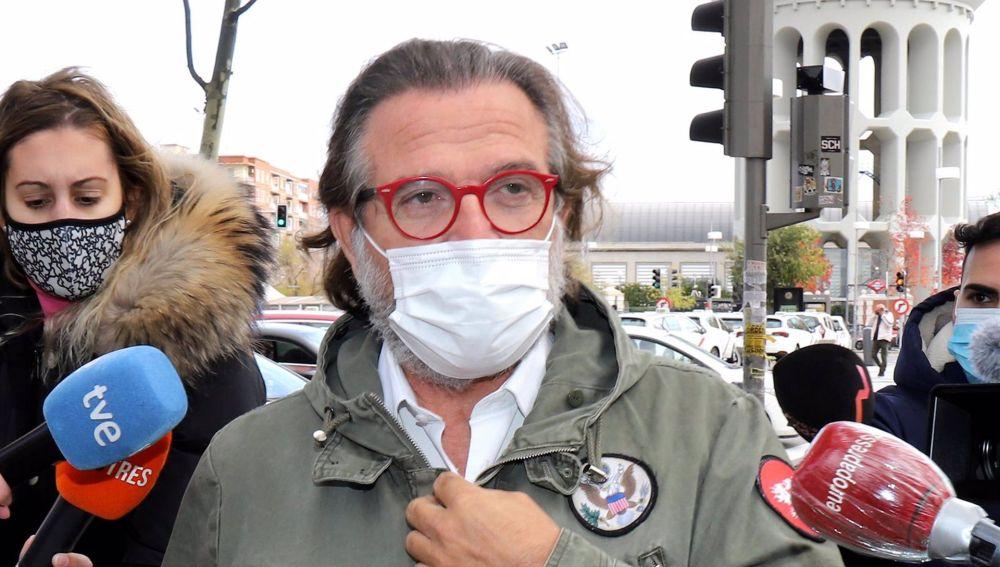 Pepe Navarro a su llegada a los juzgados