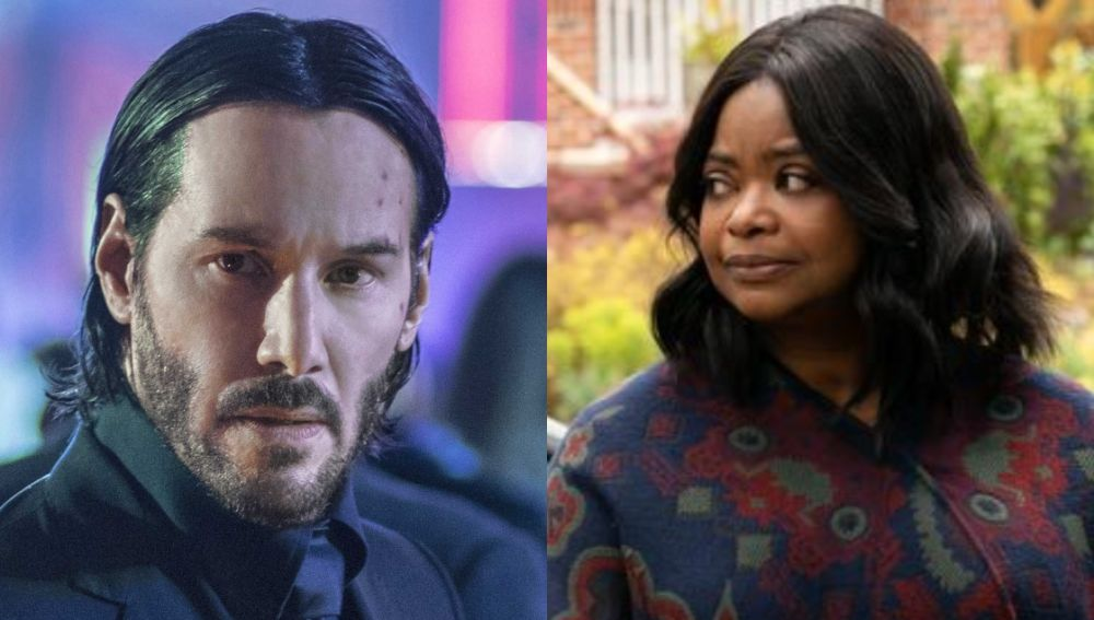 Keanu Reeves y Octavia Spencer