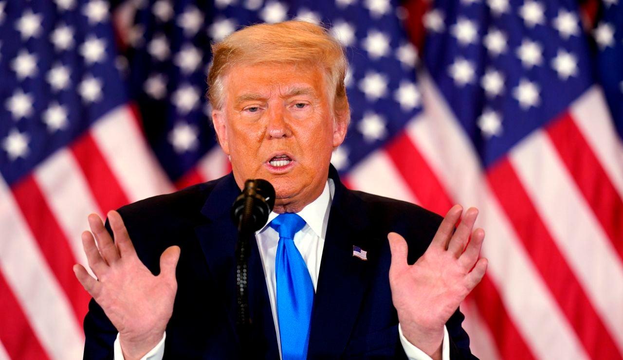 El presidente de EEUU, Donald J. Trump,en su comparencia desde la Casa Blanca, tras la noche electoral