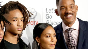 Jaden Smith junto a Jada Pinkett y Will Smith