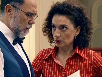 Estefanía y Miguel aprovechan una reunión militar para descubrir pistas sobre los asistentes