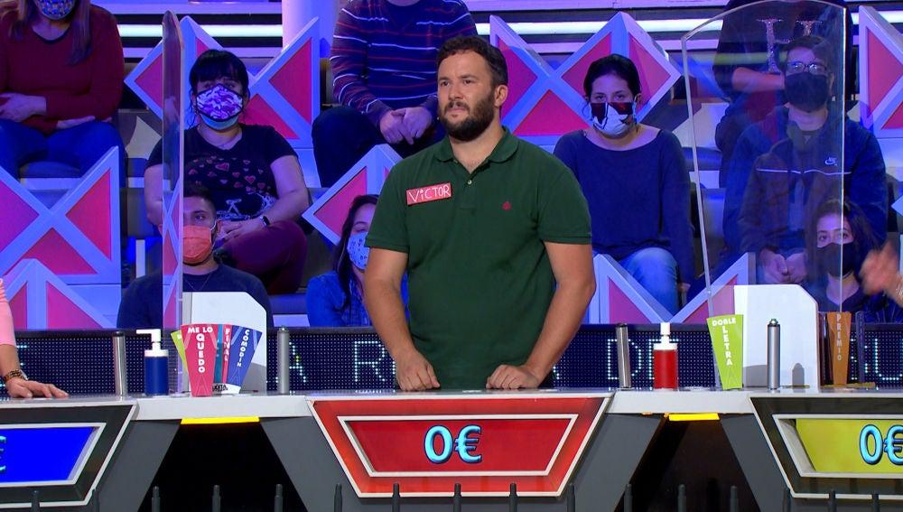El fallo determinante de Víctor que lo deja sin posibilidades en el panel de 'La ruleta de la suerte'