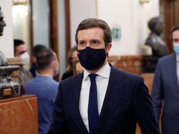 El líder del PP, Pablo Casado
