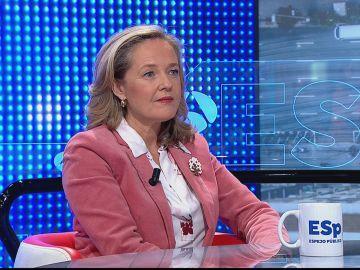 """Nadia Calviño: """"Se ha recuperado más de la mitad del empleo destruido durante el segundo trimestre del año"""""""