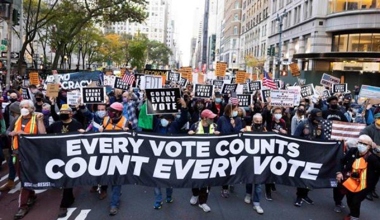 Imagen de las protestas en Nueva York