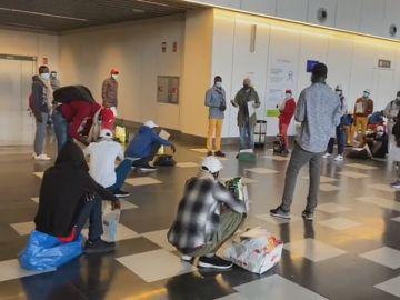 Inmigrantes trasladados a Canarias