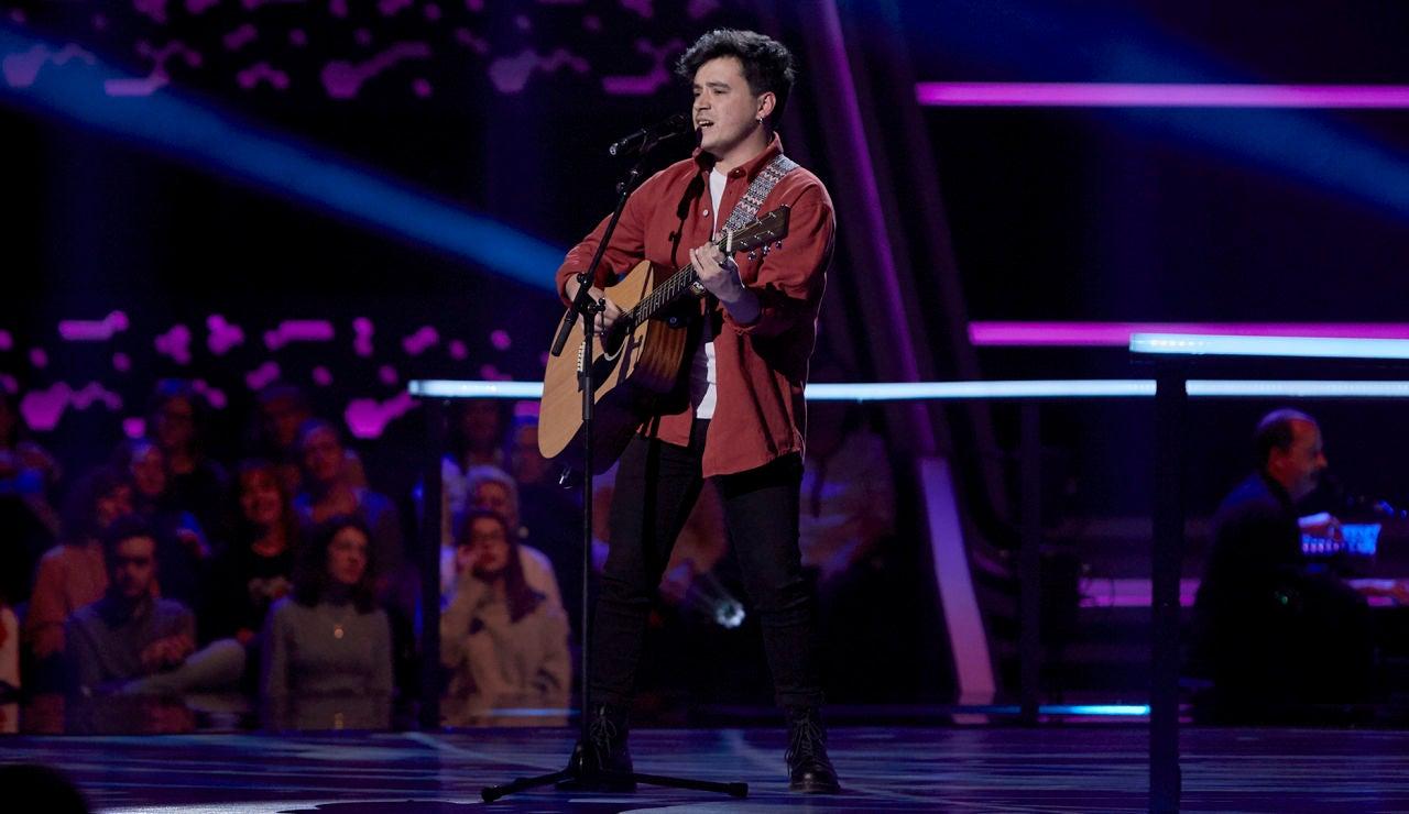 Fabio Laseca canta 'No puedo vivir sin ti' en los Asaltos de 'La Voz'