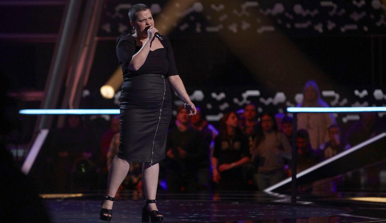 Moneiba Hidalgo canta 'Set fire to the rain' en los Asaltos de 'La Voz'