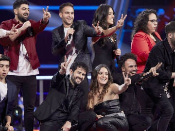 """En el próximo programa, sorpresas y dúos rompedores en la Batalla Final de 'La Voz': """"Casi me ha dado un parraque"""""""
