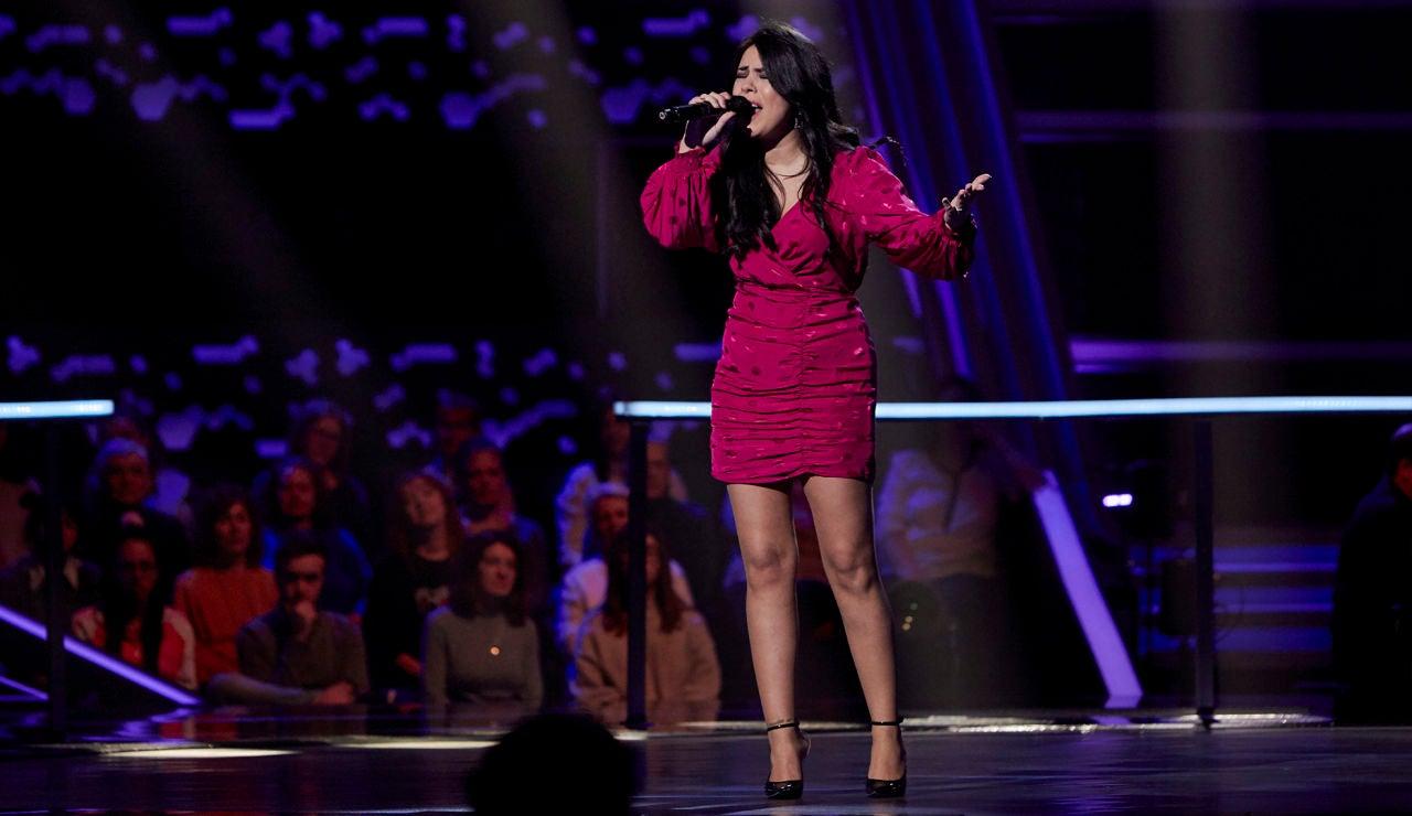Rocío Silva canta 'Ya no quiero ser' en los Asaltos de 'La Voz'