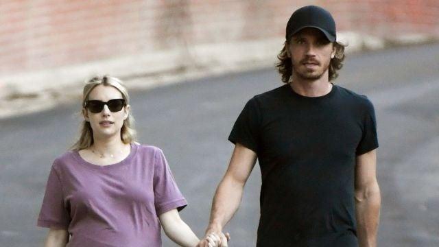 Garrett Hedlund y una embarazada Emma Roberts
