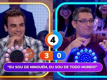 """Roberto Leal abronca a Luis en 'Pasapalabra': """"¡Eso es trampa, llevas 32 programas!"""""""