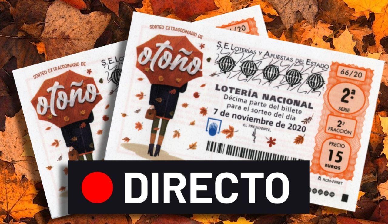 Sorteo Extraordinario de Otoño 2020: Resultado y comprobar número de la Lotería Nacional hoy sábado 7 de noviembre, en directo