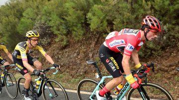 Roglic, en una etapa de la Vuelta a España