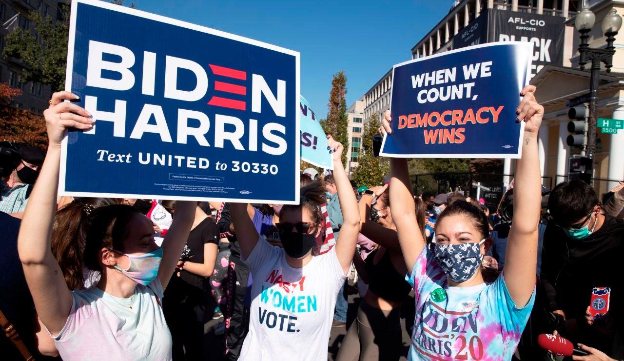 Seguidores de Biden en Estados Unidos