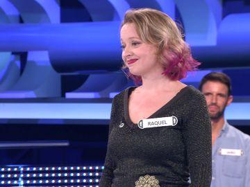 Salva una respuesta imposible y termina cayendo por una pregunta fácil, la presión acaba con Raquel en '¡Ahora caigo!'