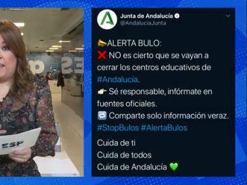 Bulo cierre de centros educativos en Andalucía