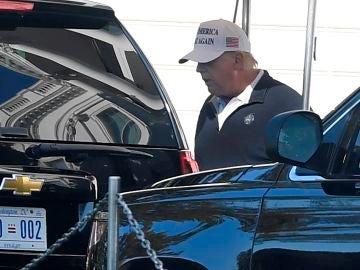 Donald Trump, tras jugar al golf