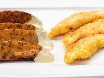 Receta de filetes de gallo con patatas deluxe, de Karlos Arguiñano