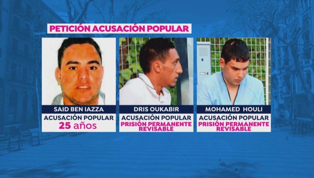 Los presuntos terroristas de los atentados en Cataluña que hoy se sientan en el banquillo
