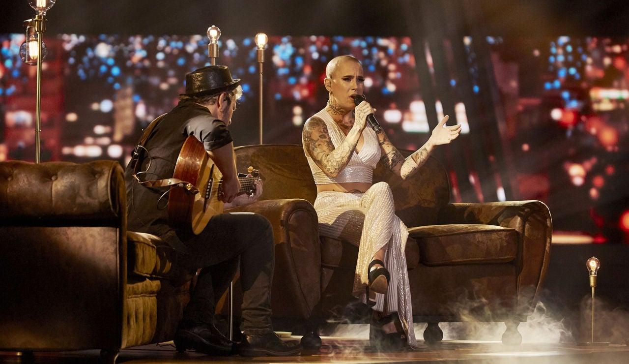 Haizea canta 'Me quedo contigo' en la Fase Final de 'La Voz'