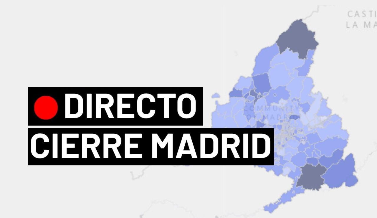 Cierre Madrid, confinamiento, zonas básicas de salud y última hora del coronavirus en España, en directo