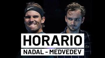 Rafa Nadal - Daniil Medvedev: Horario y dónde ver las semifinales de la ATP Finals en directo