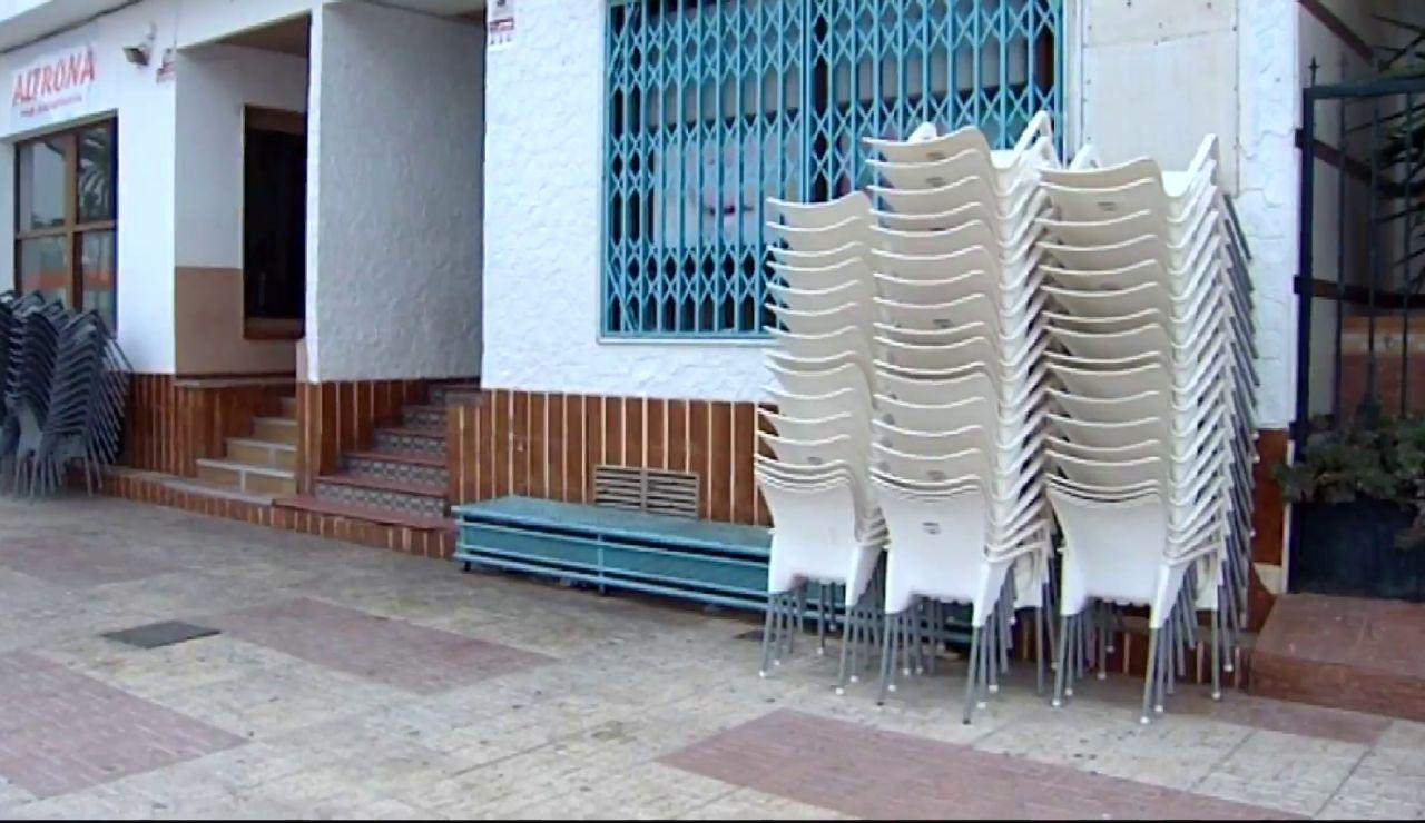 Una terraza recogida en Murcia