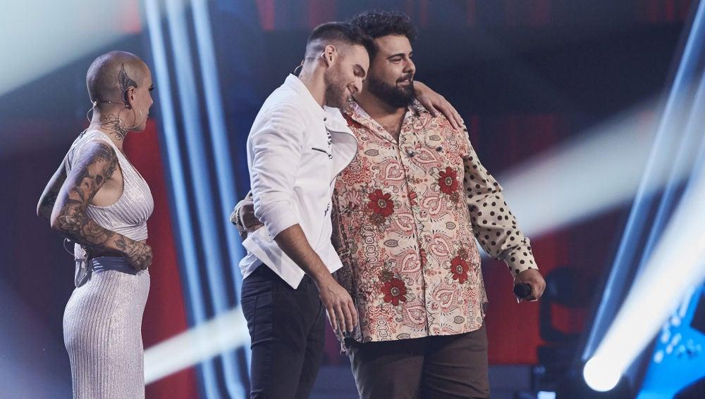 Rafael Ruiz y Adam Ainouz, los semifinalistas del equipo de Alejandro Sanz en 'La Voz'