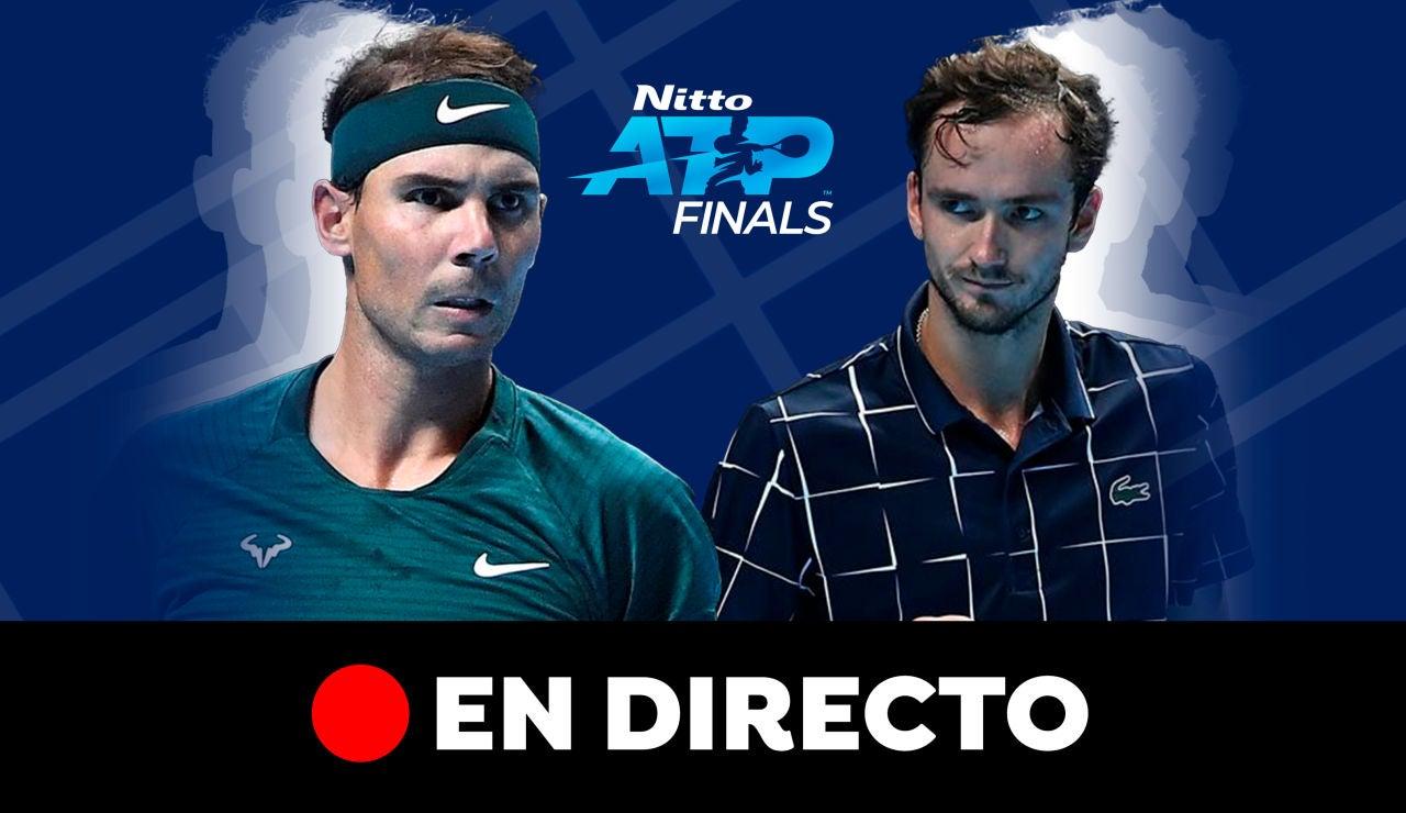 Rafa Nadal - Daniil Medvedev: Partido de hoy del ATP Finals, en directo
