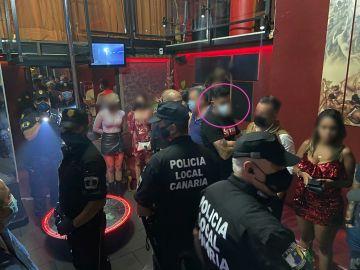 Redada policial en un club de alterne en Tenerife