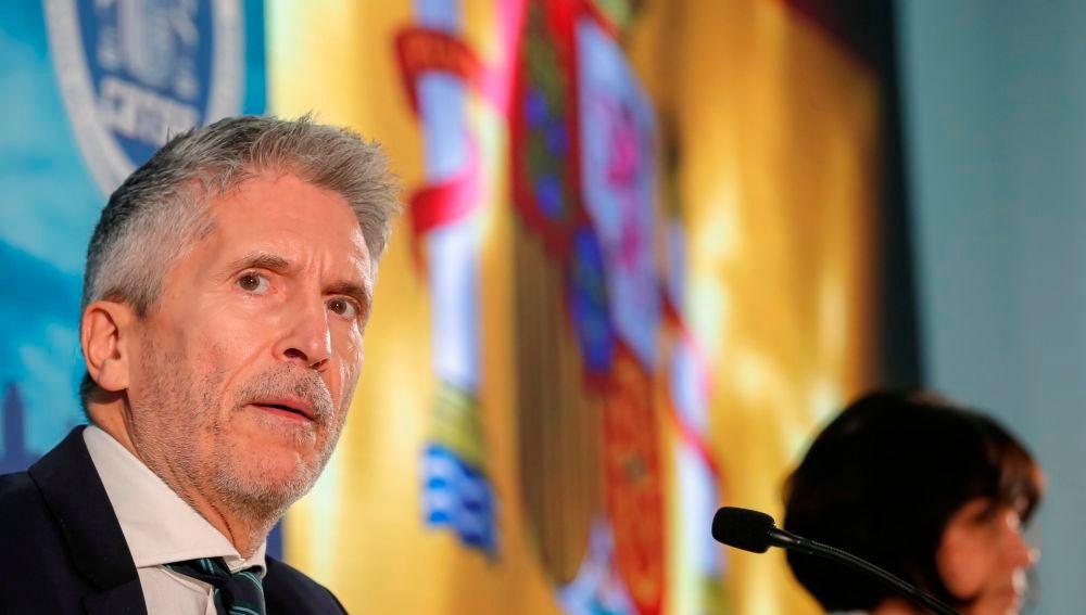 El ministro del Interior, Fernando Grande-Marlaska, ha presentado las líneas estratégicas de su departamento en la lucha contra la violencia de género