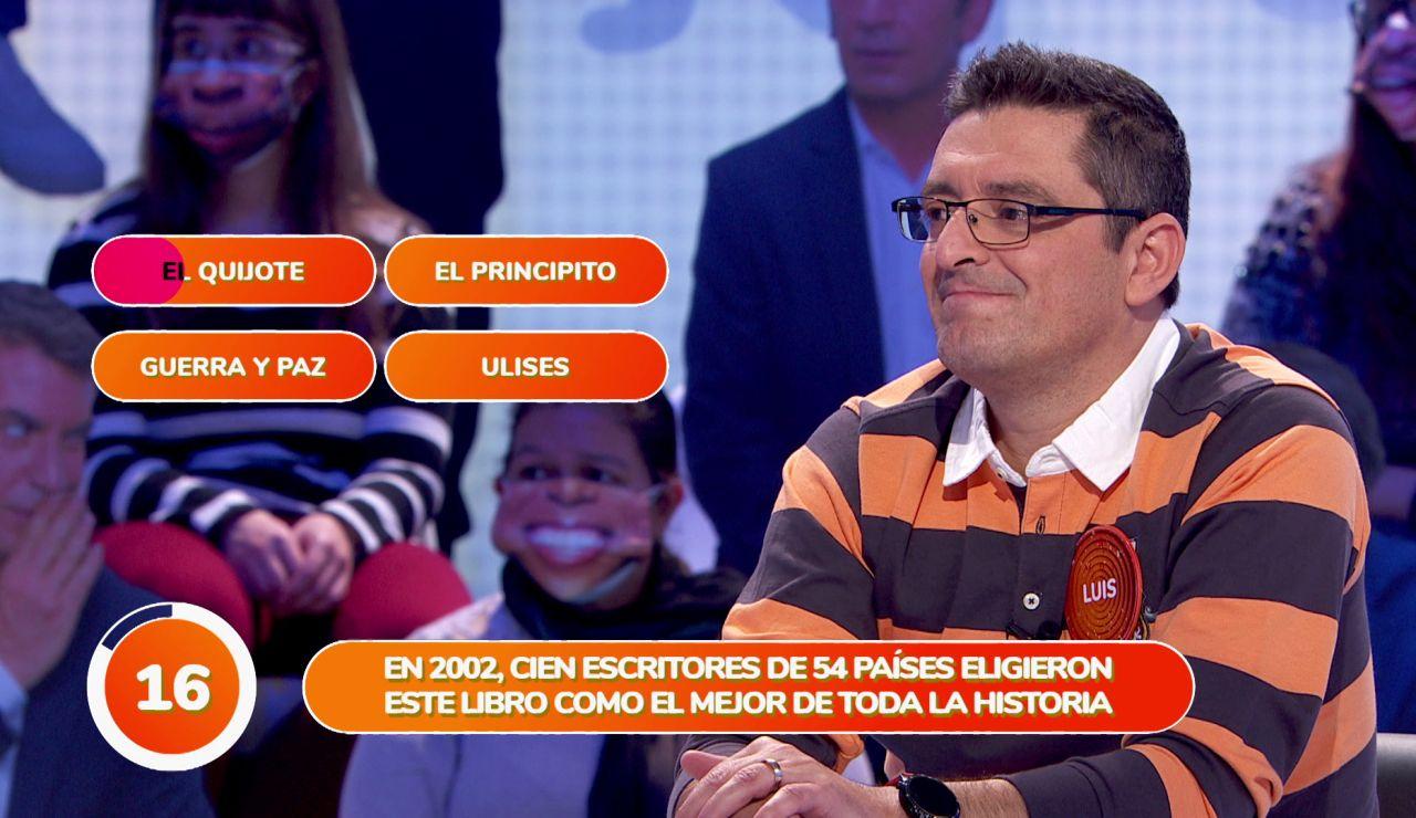 'El Quijote' provoca el error de Luis en una asombrosa jugada en 'Una de Cuatro'
