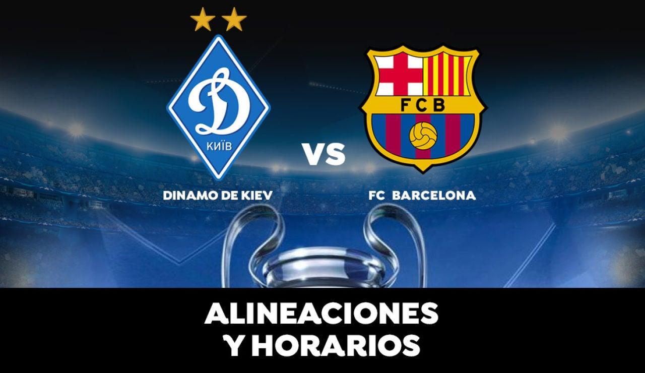 Dinamo de Kiev - Barcelona: Horario, alineaciones y dónde ver el partido del Barça de la Champions League en directo