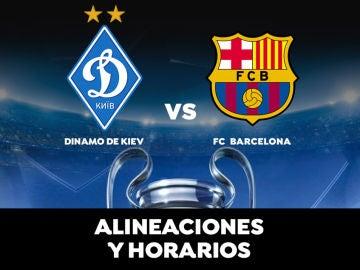 Dinamo Kiev - Barcelona: Alineaciones, horario y dónde ver el partido de hoy de la Champions League en directo