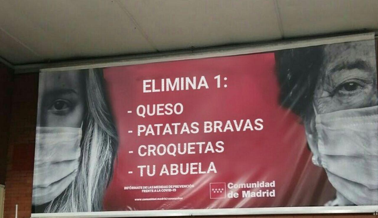 Cartel falso sobre la campaña de la comunidad de Madrid