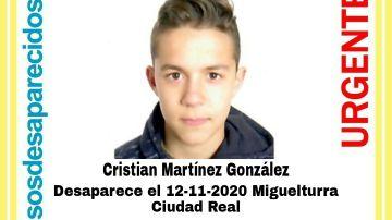 Menor desaparecido en Miguelturra