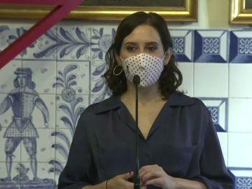 """Isabel Díaz Ayuso defiende la estrategia de Madrid frente al coronavirus: """"Hacer compatible la vida con la economía"""""""