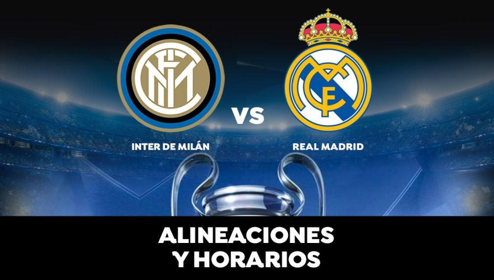 Inter de Milán - Real Madrid: Horario, alineaciones y dónde ver el partido