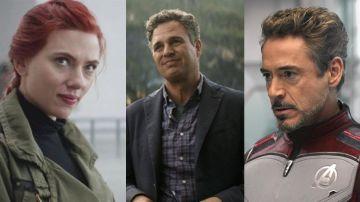 Scarlett Johansson, Mark Ruffalo y Robert Downey Jr. en 'Vengadores: Endgame'