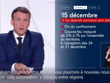 Macron ofrece el final del confinamiento en Francia a mediados de diciembre si bajan los casos de coronavirus